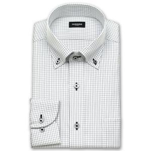 ワイシャツ Yシャツ メンズ 長袖 | renoma PARIS | 綿100% 形態安定加工 グレーのグラフチェック ボタンダウン おしゃれ|choyashirts