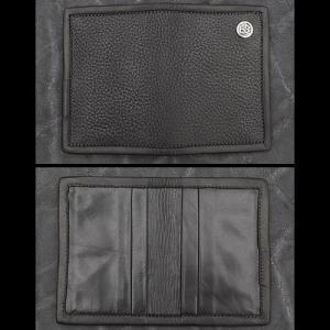 TRAVIS WALKER/DOUBLE CROSS(トラヴィスワーカー/ダブルクロス):Card Wallet/Black Cow Hide(カードウォレット/ブラックカウハイド)|chrono925