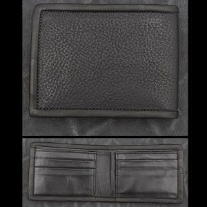 TRAVIS WALKER/DOUBLE CROSS(トラヴィスワーカー/ダブルクロス):Bi Fold Wallet/Black Cow Hide(バイホールドウォレット/ブラックカウハイド)|chrono925