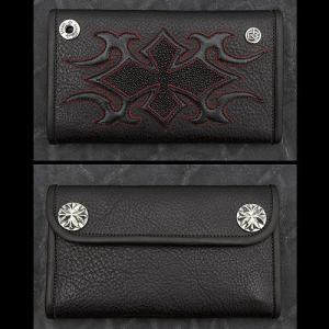 TRAVIS WALKER/DOUBLE CROSS(トラヴィスワーカー/ダブルクロス):Large 3 Fold Wallet/Tribal Cross(ラージ3ホールドウォレット/トライバルクロス)|chrono925