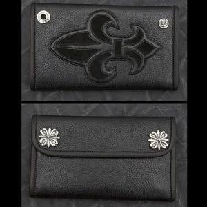 TRAVIS WALKER/DOUBLE CROSS(トラヴィスワーカー/ダブルクロス):Large 3 Fold Wallet/#7 Fleur de Lis(ラージ3ホールドウォレット/#7 FDL)|chrono925
