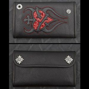TRAVIS WALKER/DOUBLE CROSS(トラヴィスワーカー/ダブルクロス):Large 3 Fold Wallet/Sacred Heart(ラージ3ホールドウォレット/セイクリッドハート)|chrono925