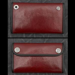 TRAVIS WALKER/DOUBLE CROSS(トラヴィスワーカー/ダブルクロス):Large 3 Fold Wallet/Red Cow Hide(ラージ3ホールドウォレット/レッドカウハイド)|chrono925