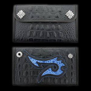TRAVIS WALKER(トラヴィスワーカー):Large 3 Fold Wallet/Faux Alligator/#9 Fish Hook(ラージ3ホールドウォレット/型押しアリゲーター/#9フ...