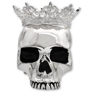 【KING BABY キングベイビー】クラウンドスカルキャンドルホルダー/シルバー【送料無料】|chrono925