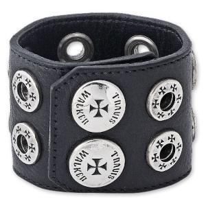 TRAVIS WALKER/DOUBLE CROSS(トラヴィスワーカー/ダブルクロス):Double Grommet Leather Cuff Bracelet(ダブルグロメットレザーカフブレスレット)|chrono925