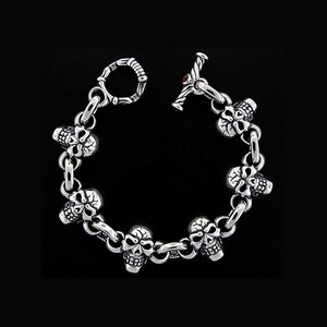 TRAVIS WALKER/DOUBLE CROSS(トラヴィスワーカー/ダブルクロス):Jumped Side by Side Skull Bracelet(ジャンプドサイドバイサイドスカルブレスレット)|chrono925