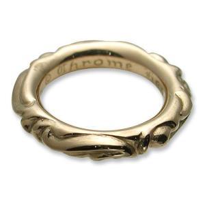 【CHROME HEARTS クロムハーツ Ring リング】スクロールバンドリング/22Kゴールド【送料無料】|chrono925