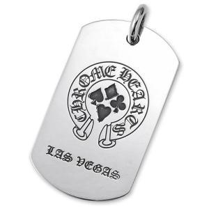 【CHROME HEARTS クロムハーツ Dog Tag ドッグタグ ペンダント】ホースシューフロント/CHプラスバックドッグタグ【ラスベガス限定】【送料無料】|chrono925