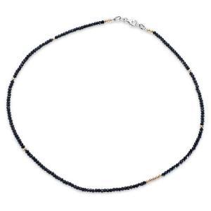 【CHRONO クロノオリジナル Necklace ネックレス】オリジナルブラックスピネルw/14KGFネックレス/3.0mm/ショート|chrono925|02