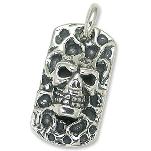 TRAVIS WALKER/DOUBLE CROSS(トラヴィスワーカー/ダブルクロス):Melting Skull Dog Tag(メルティングスカルドッグタグ)|chrono925