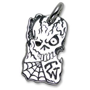 TRAVIS WALKER/DOUBLE CROSS(トラヴィスワーカー/ダブルクロス):Chiseled Skull Dog Tag(チゼルドスカルドッグタグ)|chrono925