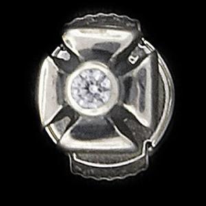 TRAVIS WALKER/DOUBLE CROSS(トラヴィスワーカー/ダブルクロス):Outlaw Stud Earring w/CZ(アウトロースタッドイヤリングw/ジルコニア)|chrono925