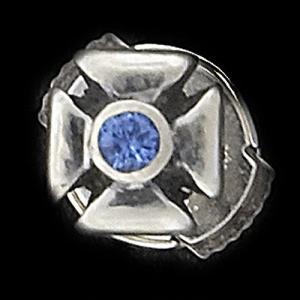 TRAVIS WALKER/DOUBLE CROSS(トラヴィスワーカー/ダブルクロス):Outlaw Stud Earring w/Blue Sapphire(アウトロースタッドイヤリングw/ブルーサファイア)|chrono925