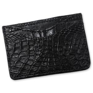 【Greg Everett Original グレッグエバレットオリジナル Card Wallet カードケース】カードウォレット/ダブルスリーブ/アリゲーター/ブラック【送料無料】|chrono925