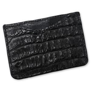 【Greg Everett Original グレッグエバレットオリジナル Card Wallet カードケース】カードウォレット/シングルスリーブ/アリゲーター/ブラック【送料無料】|chrono925