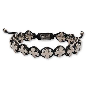 【KING BABY キングベイビー Bracelet ブレスレット】ブラックマクラメブレスレットw/MBクロス【送料無料】|chrono925