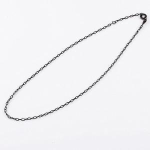【KING LIMO キングリモ Necklace ネックレス】KLベーシックチェーン/ブラックコーティングw/CZ【送料無料】|chrono925