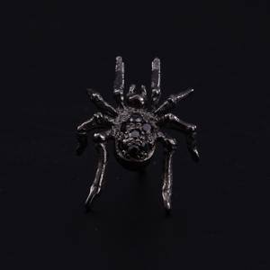 【KING LIMO キングリモ Earring イヤリング ピアス】タイニースパイダーイヤリング/ブラックコーティングw/ブラックCZ【送料無料】|chrono925
