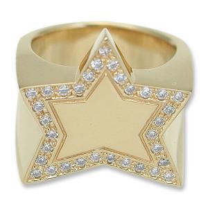 KING LIMO(キングリモ):King Star Ring/18K Gold Plate w/Pave CZ(キングスターリング/18Kゴールドコーティングw/パヴェCZ)|chrono925