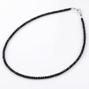 【KING LIMO キングリモ Necklace ネックレス】ギャラクシーネックレス/ブラックスピネルw/ブルースピネル/50cm【送料無料】|chrono925