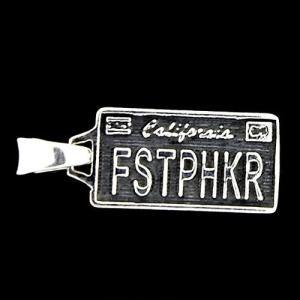 TRAVIS WALKER/DOUBLE CROSS(トラヴィスワーカー/ダブルクロス):License Plate Pendant/FSTPHKR/Small(ライセンスプレートペンダント/FSTPHKR/スモール)|chrono925