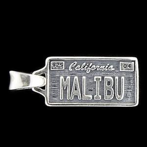 TRAVIS WALKER/DOUBLE CROSS(トラヴィスワーカー/ダブルクロス):License Plate Pendant/MALIBU/Small(ライセンスプレートペンダント/マリブ/スモール)|chrono925