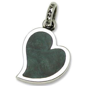 STANLEY GUESS(スタンリーゲス):Lopsided Heart Wood Inlaid Pendant(ロップサイドハートウッドインレイドペンダント)|chrono925