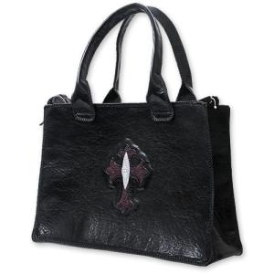 【VAN AMBURG LEATHERS ヴァンアンバーグレザーズ BAG バッグ 鞄】レザーバッグ/バッファローw/クロスインレイ【送料無料】|chrono925