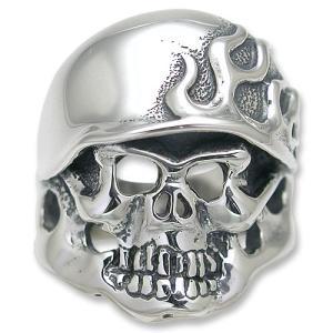 TRAVIS WALKER/DOUBLE CROSS(トラヴィスワーカー/ダブルクロス):Flame Helmet Ring(フレイムヘルメットリング)|chrono925