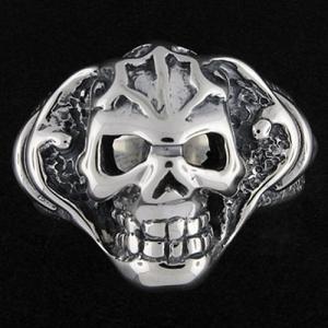 TRAVIS WALKER/DOUBLE CROSS(トラヴィスワーカー/ダブルクロス):Tribal Skull Ring(トライバルスカルリング)|chrono925