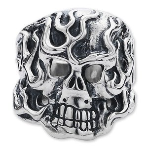 TRAVIS WALKER/DOUBLE CROSS(トラヴィスワーカー):Flaming Original Skull Ring【CHRONO Exclusive】(フレイミングオリジナルスカルリング)【CHRONO限定】|chrono925