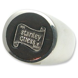 【STANLEY GUESS スタンリーゲス Ring リング】ラージラウンドウッドw/ロゴインレイドリング【送料無料】|chrono925