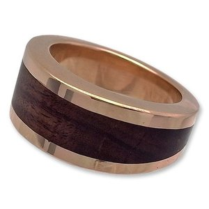 STANLEY GUESS(スタンリーゲス):Wood V Band Ring/18K Gold(ウッドVバンドリング/18Kゴールド)|chrono925