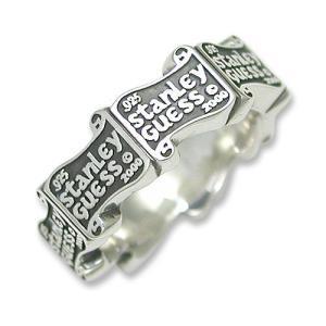 STANLEY GUESS(スタンリーゲス):Logo Band Ring(ロゴバンドリング)|chrono925