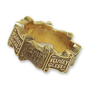 STANLEY GUESS(スタンリーゲス):Logo Band Ring/18K Gold(ロゴバンドリング/18Kゴールド)|chrono925
