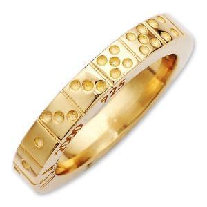 STANLEY GUESS(スタンリーゲス):Domino Band Ring/18K Gold(ドミノバンドリング/18Kゴールド)|chrono925