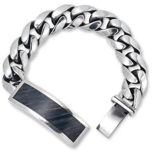 STANLEY GUESS(スタンリーゲス):Wood Inlaid ID Bracelet(ウッドインレイドIDブレスレット)|chrono925