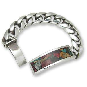 STANLEY GUESS(スタンリーゲス):Multi Wood Inlaid ID Bracelet(マルチウッドインレイドIDブレスレット)|chrono925