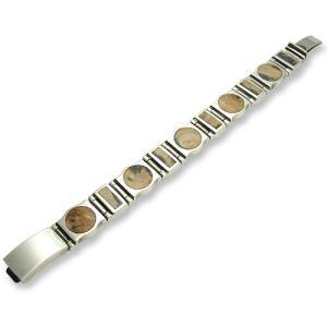 STANLEY GUESS:Short Narrow&Round Wood w/Plain Box Clip Bracelet(ショートナロー&ラウンドウッドw/プレーンボックスクリップブレスレット)|chrono925
