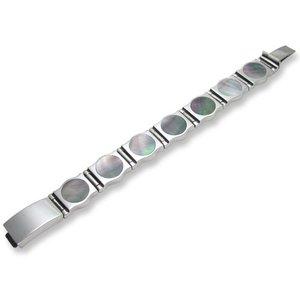 STANLEY GUESS(スタンリーゲス):Round Shell Bracelet/Hinge Style(ラウンドシェルブレスレット/ヒンジスタイル)|chrono925