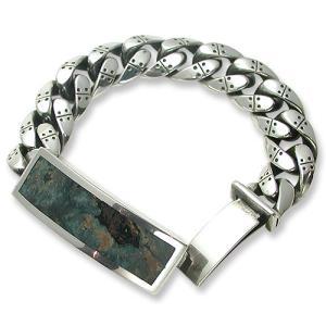STANLEY GUESS(スタンリーゲス):Wood Inlaid ID Extra Fancy Armor Link Bracelet(ウッドインレイドIDエクストラファンシーアーマーリンクブレスレット)|chrono925