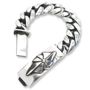 STANLEY GUESS(スタンリーゲス):Fancy Armor Link w/Fan Cross ID Bracelet(ファンシーアーマーリンクw/ファンクロスIDブレスレット)|chrono925