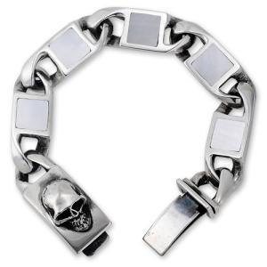 【STANLEY GUESS スタンリーゲス Bracelet ブレスレット】スクエアシェルブレスレット/クラシックスタイルw/スカルボックスクリップ【送料無料】|chrono925
