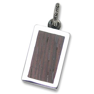 STANLEY GUESS(スタンリーゲス):Large Wood ID Pendant(ラージウッドIDペンダント) chrono925