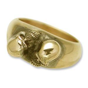 STANLEY GUESS(スタンリーゲス):2 Small Skull Ring/18K Gold(2スモールスカルリング/18Kゴールド)|chrono925