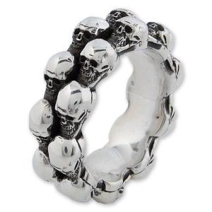 STANLEY GUESS(スタンリーゲス):Double Skull Band Ring(ダブルスカルバンドリング)|chrono925
