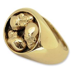 STANLEY GUESS(スタンリーゲス):3 Skull Ring/18K Gold(3スカルリング/18Kゴールド)|chrono925
