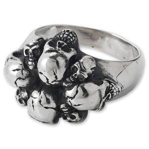 STANLEY GUESS(スタンリーゲス):Skull Pile Ring/Medium(スカルパイルリング/ミディアム)|chrono925