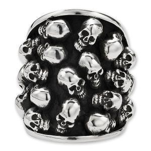 STANLEY GUESS(スタンリーゲス):Multi Skull Oval Ring(マルチスカルオーバルリング)|chrono925